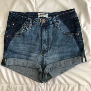 One X One Teaspoon Jean Shorts Harlets 30